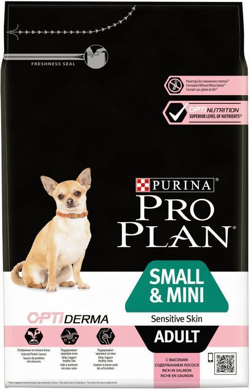 Сухой корм Сухой корм, Purina Pro Plan, для взрослых собак мелких и карликовых пород с чувствительной кожей, с лососем и рисом мелких_и_карликовых_пород_с_чувствительной_кожей__лосось_с_рисом.jpg