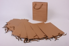 Подарочная сумка КРАФТ однотонный 19*24*8 / 1 шт. /