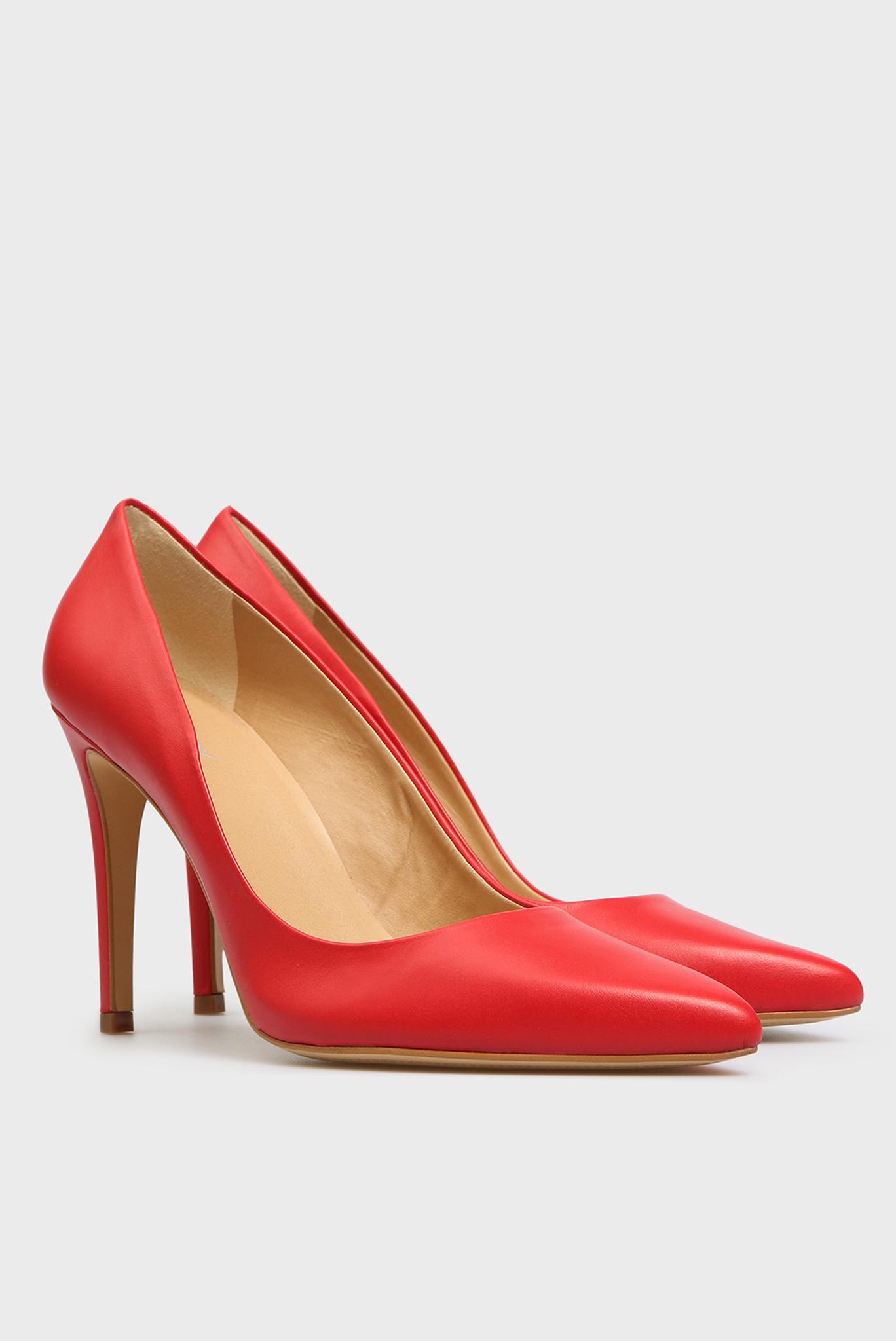 Женские красные кожаные лодочки Gigi Preppy