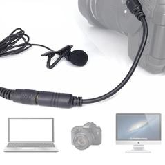 Петличка Arimic для интервью 2 микрофона на 1 мини джеке 6 м