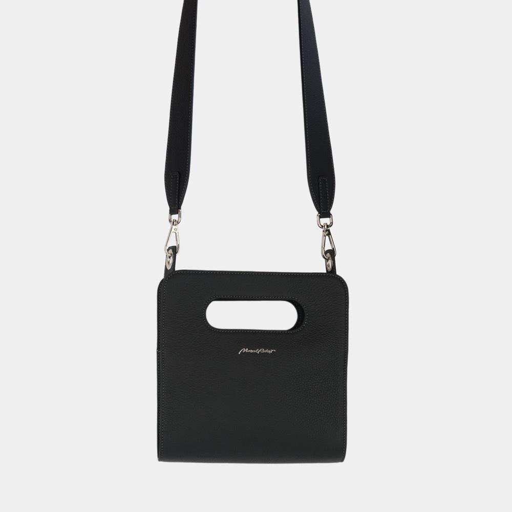Женская сумка Camille Easy из натуральной кожи теленка, цвета черный мат