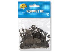 Конфетти Круги тишью Черные, 1,5 см, 10 гр, 1 уп.