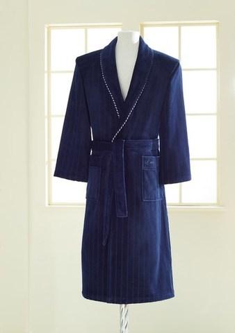 Махровый мужской халат LORD тёмно-синий