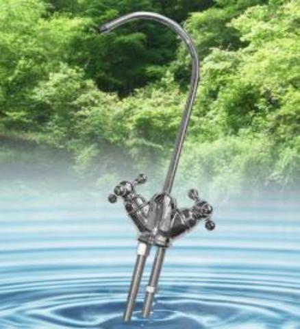 Кран DF015ВВ2-HC (кран с двумя выходами для подведения чистой воды (с вентилем