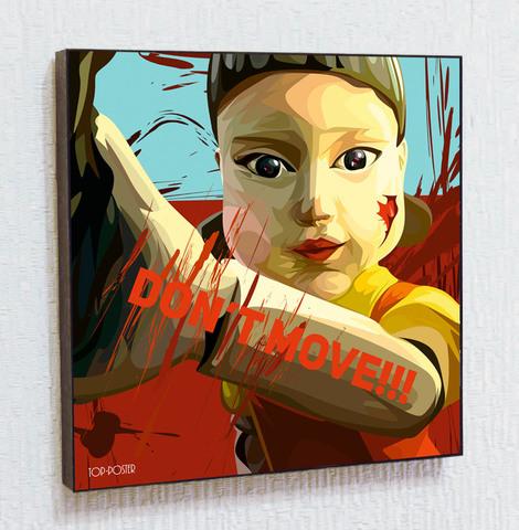 Картина постер Кукла Игра в Кальмара в стиле ПОП-АРТ