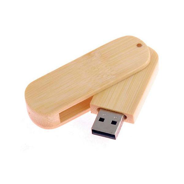 usb-флешка деревянная овальная выдвижная оптом