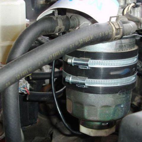 Установка бондажного подогревателя топливного фильтра