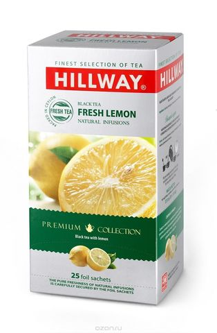 Hillway Fresh Lemon Черный чай с лимоном конверты 25 шт*1,5 гр.