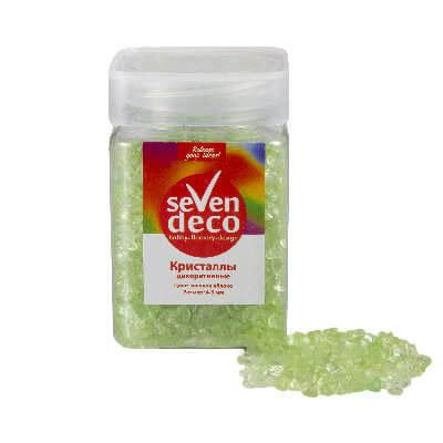 Кристаллы декоративные Зелёное яблоко (стекло) 4-6 мм
