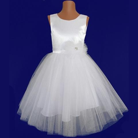 Пышное белое платье