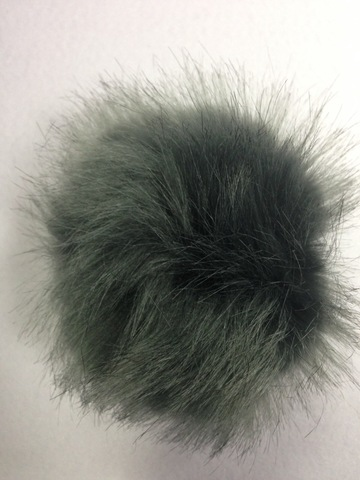 Помпон искусственный мех под песца, d-13см (т.серый)