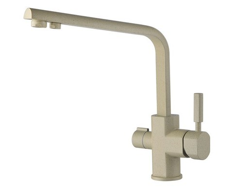 Смеситель KAISER Decor 40144-7 бежевый мрамор для кухни под фильтр