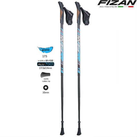 Скандинавские палки Fizan NW Lite S19 7107 Италия 3 сложения