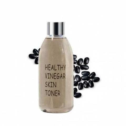 RealSkin Healthy Vinegar Skin Toner Black Bean уксусный тонер на основе ферментированного экстракта черных соевых бобов для антивозрастного ухода за кожей
