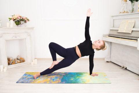 Коврик для йоги Sun 178*61*0,1-0,3 см из микрофибры и каучука