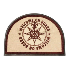 NON SLIP MAT WELCOME ON BOARD – BROWN