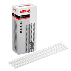 Пружины для переплета пластиковые Promega office 12 мм белые (100 штук в упаковке)