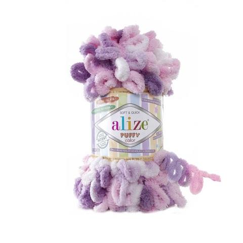 Пряжа Alize Puffy Color цвет 6077