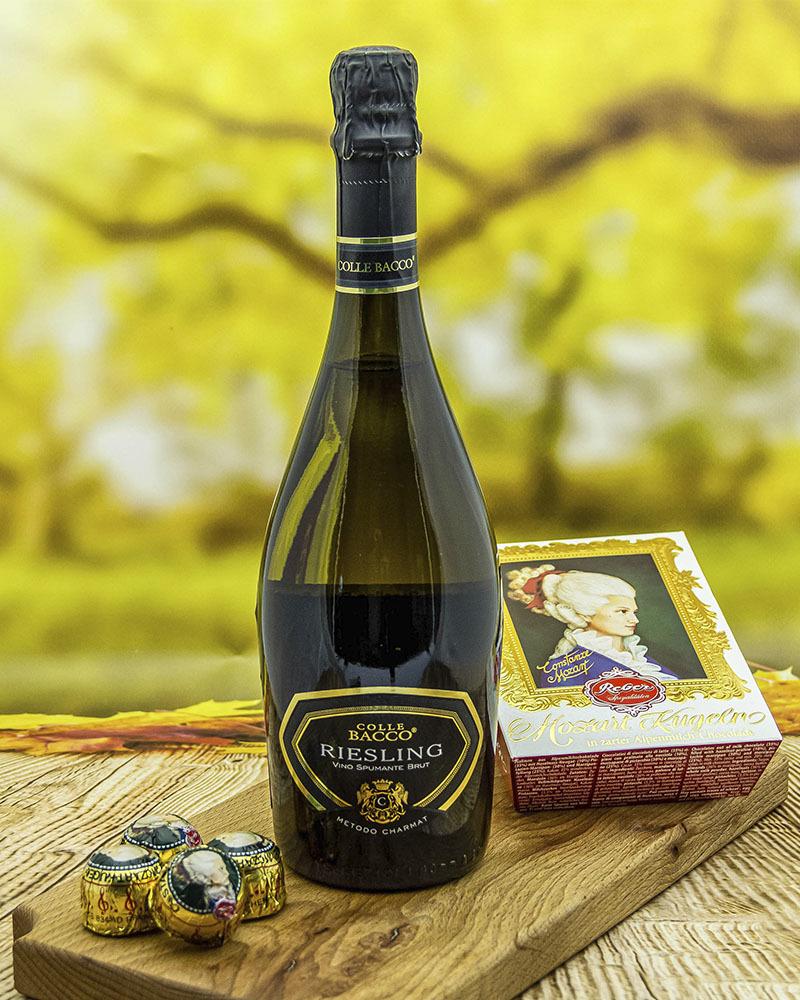 Вино игристое Pirovano Колле Бакко Рислинг Спуманте Белое Брют 11% 0,75 л.