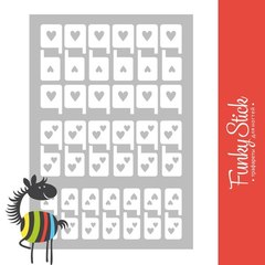 Трафареты для ногтей Love №3