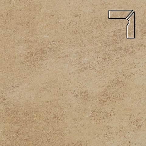 Stroeher - Keraplatte Asar 635 gari длина стороны угла 290 артикул 9118 - Плинтус клинкерной ступени правый