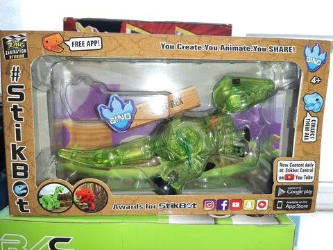Стикбот динозавр рекс зеленый