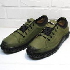 Кожаные мужские туфли под кроссовки Luciano Bellini C2801 Nb Khaki.