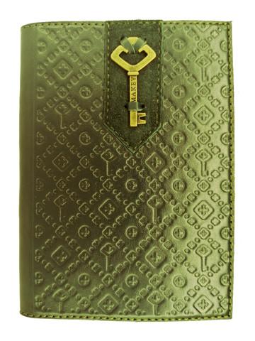 Обложка на паспорт «Ключ». Цвет зеленый