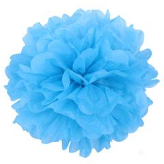 Помпон из бумаги 30 см, синий