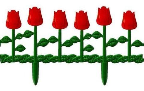 Забор декоративный Цветник 620х290 6шт М613