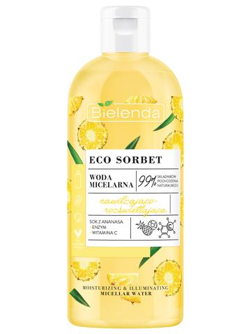 ECO SORBET Pineapple Мицеллярная вода увлажняющая с эффектом осветления, 500 мл