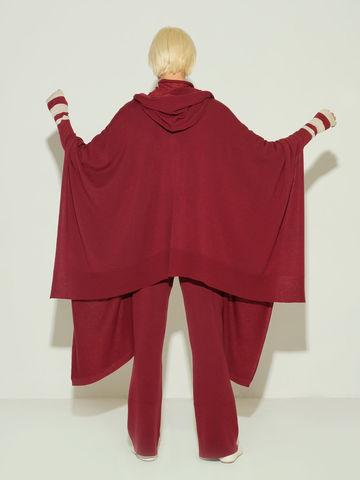 Женский шарф бордового цвета из 100% шерсти - фото 4