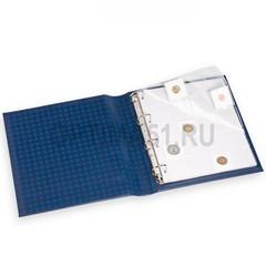 Лист GRANDE для холдеров 50х50 мм, 20 ячеек, с картонным разделителем, прозрачный