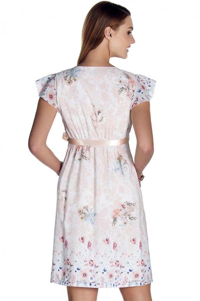 Фото платье для беременных EBRU от магазина СКороМама, бежевый, экри, размеры.