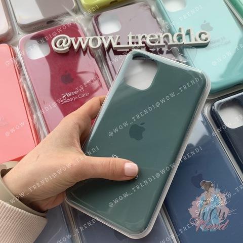 Чехол iPhone 11 Silicone Case Full /pine green/