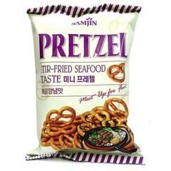 Претцели Samjin со вкусом жареных морепродуктов 85 гр