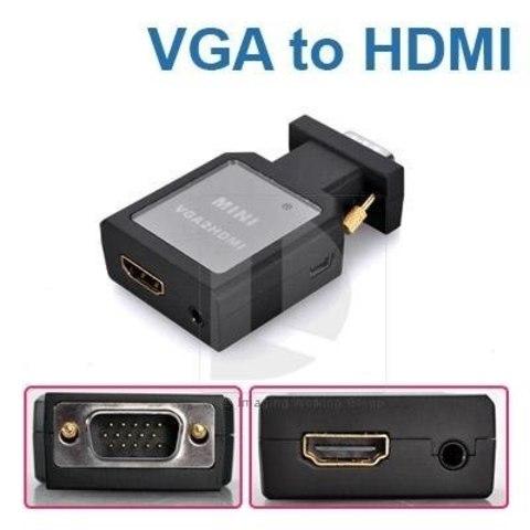 Переходник vga hdmi  конвертер  адаптер (от VGA на HDMI)