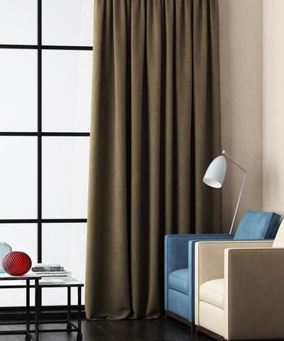 Готовая штора Калипсо коричневый