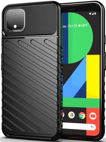 Чехол Google Pixel 4 цвет Black (черный), серия Onyx, Caseport