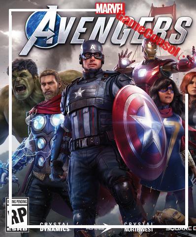 Плакат игровой Мстители Marvel (А1)