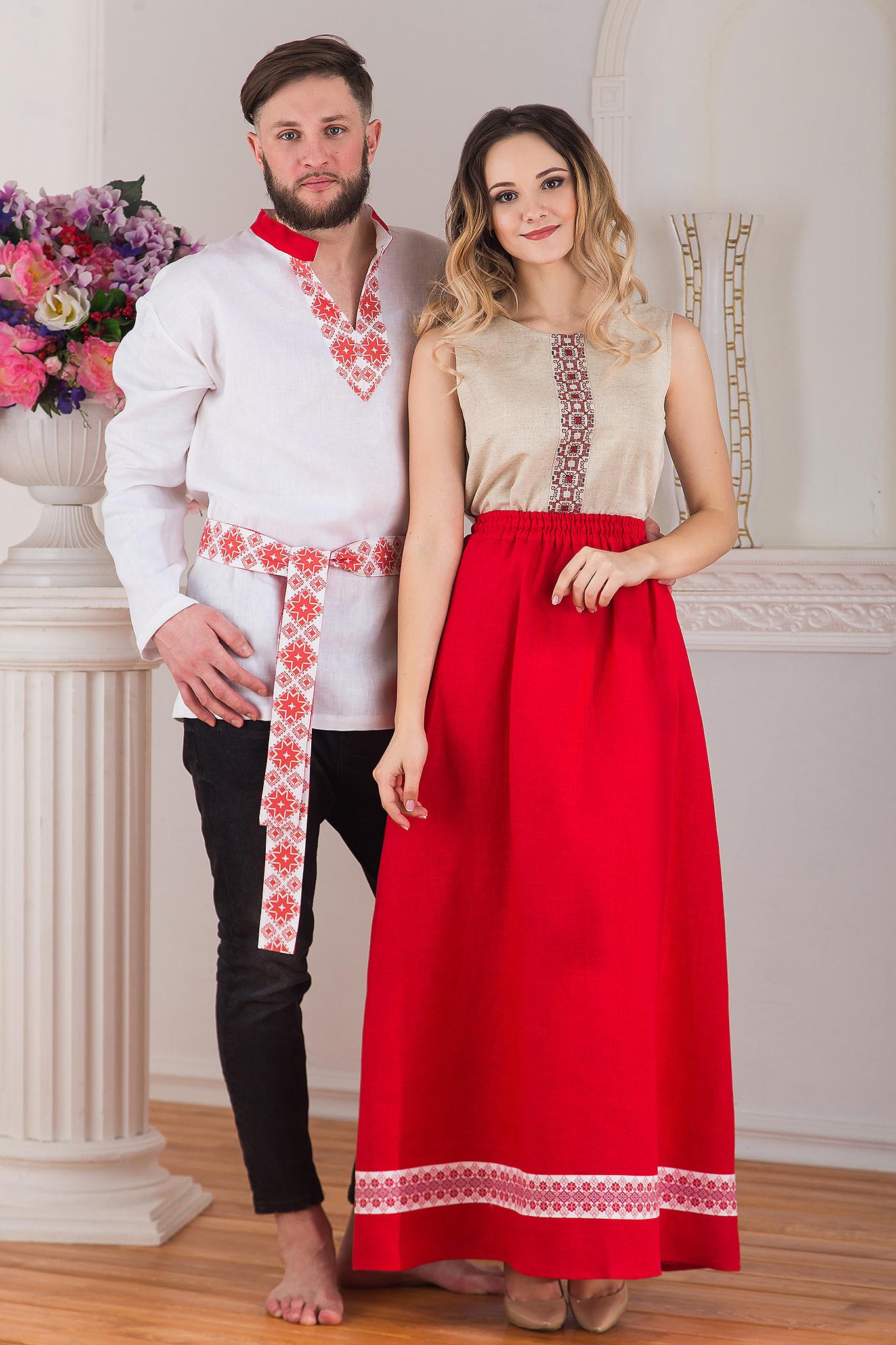 Юбка длинная льняная Ягодка от интернет-магазина Иванка пара
