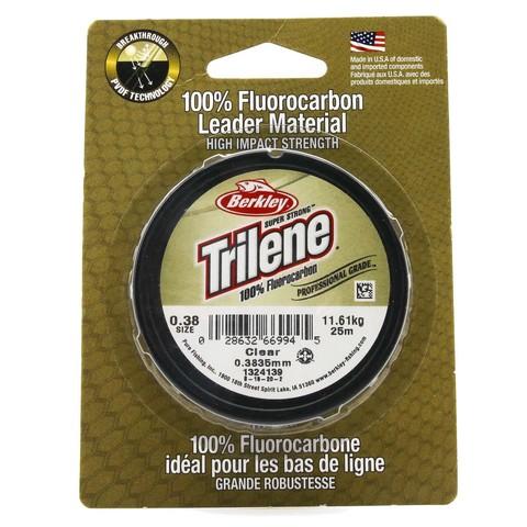 Леска флюорокарбоновая Berkley Trilene Fluorocarbon Leader 0,38 25M Clear