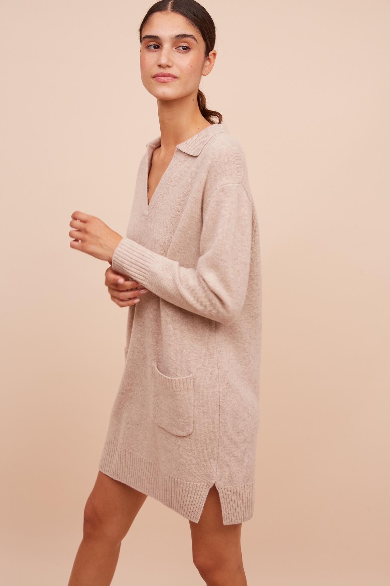 JASMINE - Шерстяное платье-джемпер