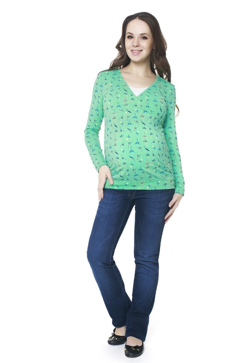 Блузка для беременных 06409 зеленый