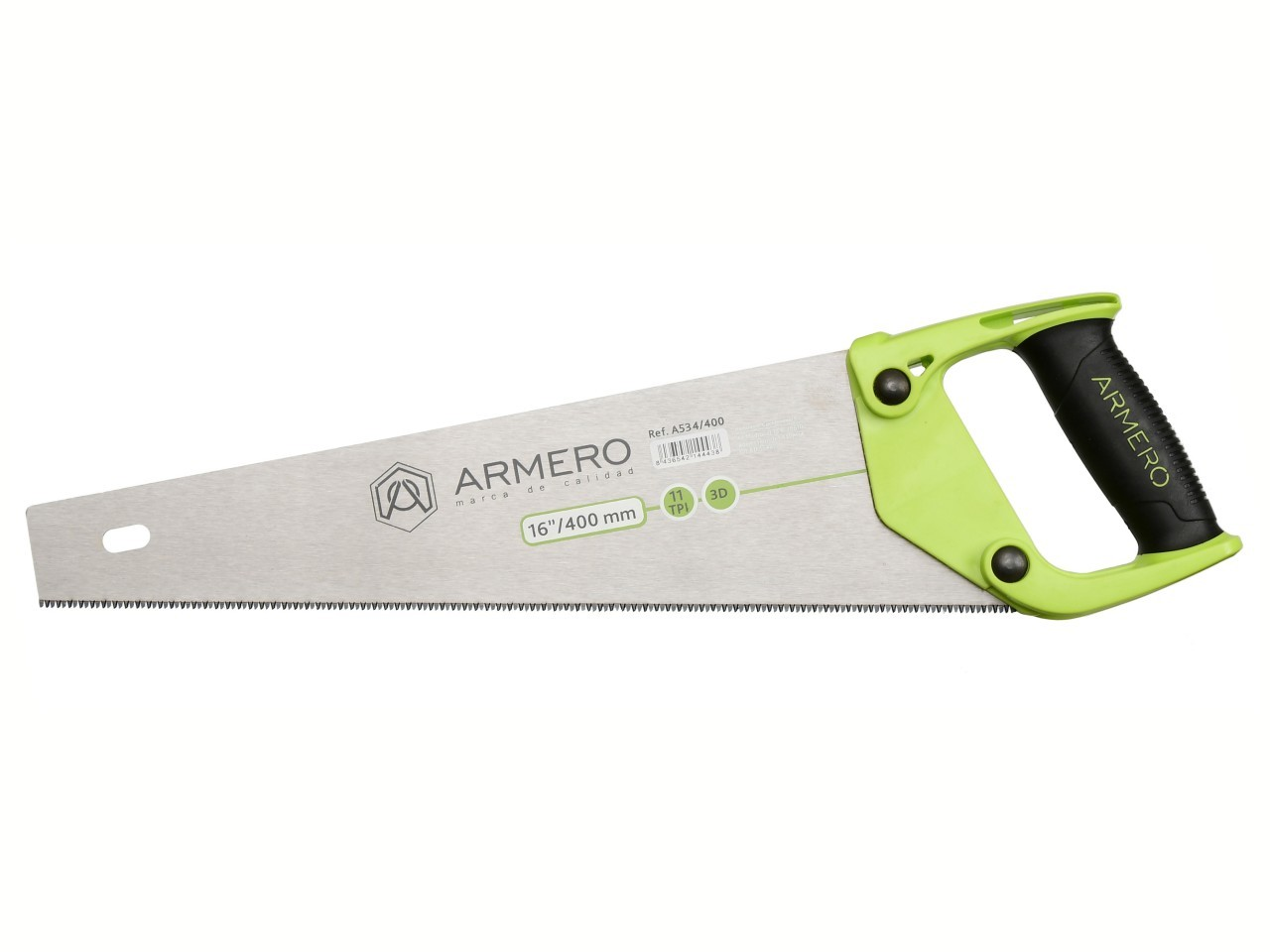 Ножовка по дереву A534/400, 400 мм, 3d, мелкий зуб