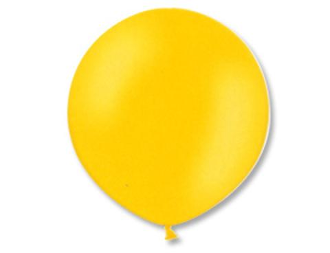 Большой шар металлик желтый