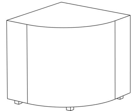 Пф-04 Пуфик угловой (оранжевый) для дома и магазина