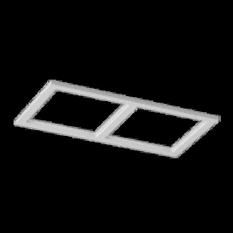 Рамка COMBO-34 двойная белая