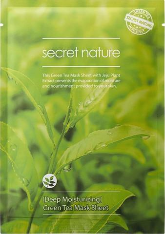 Купить Secret Nature Green Tea Mask Sheet Deep Moisturizing Суперувлажняющая маска с зеленым чаем 25мл