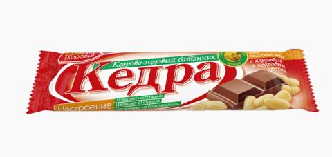 Кедрово-медовый батончик Настроение с кэробом и кедровым орехом, 30 г.